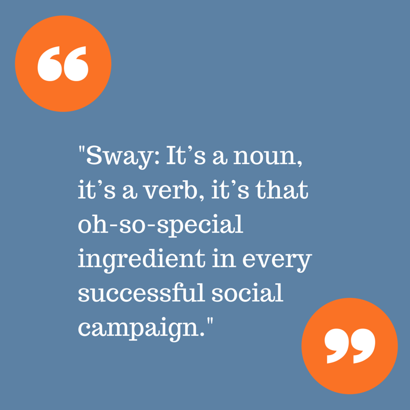 Sway is the special ingredient in every successful social campaign.