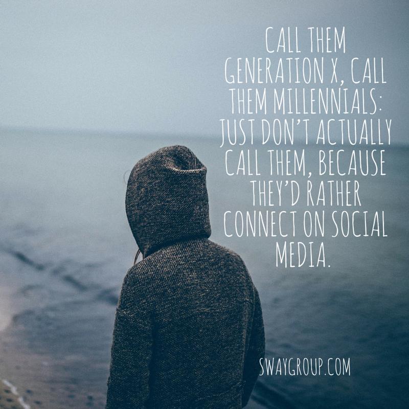 Marketing to millennials through influencers