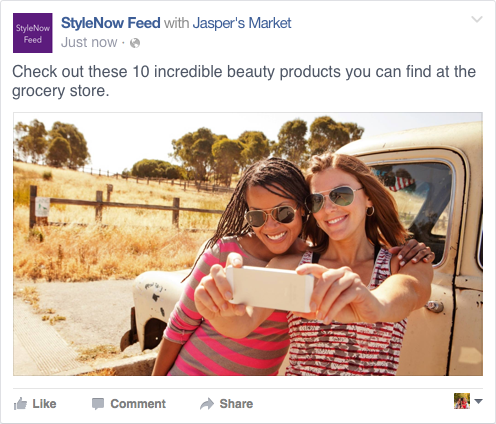 Facebook Branded Content Post