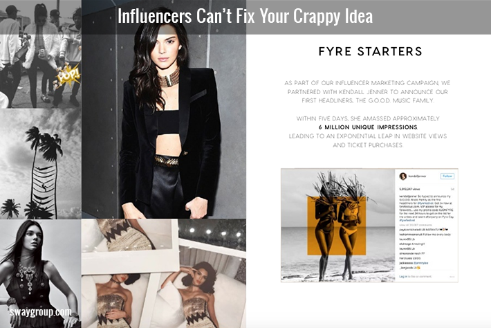 Influencers Can't Fix Your Crappy Idea