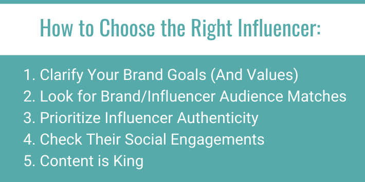 5 steps to choosing the right influencer