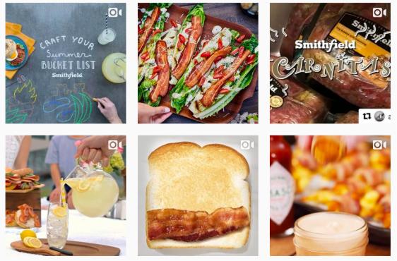 food brand instagram feeds