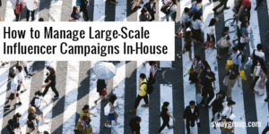 Large-scale influencer campaigns