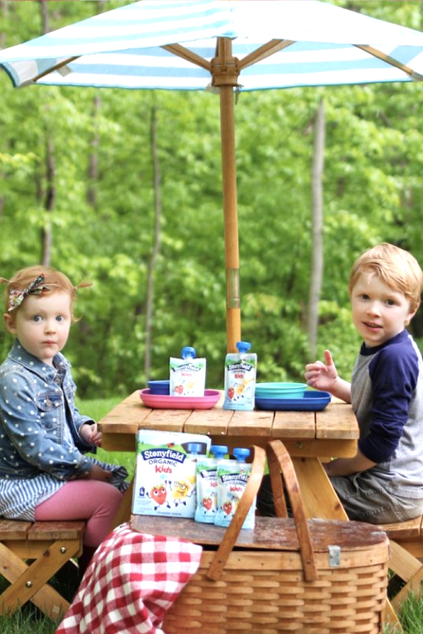 An outdoor scene from a Stonyfield Influencer campaign