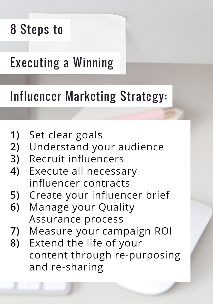 8 steps to executing a winning influencer marketing strategy