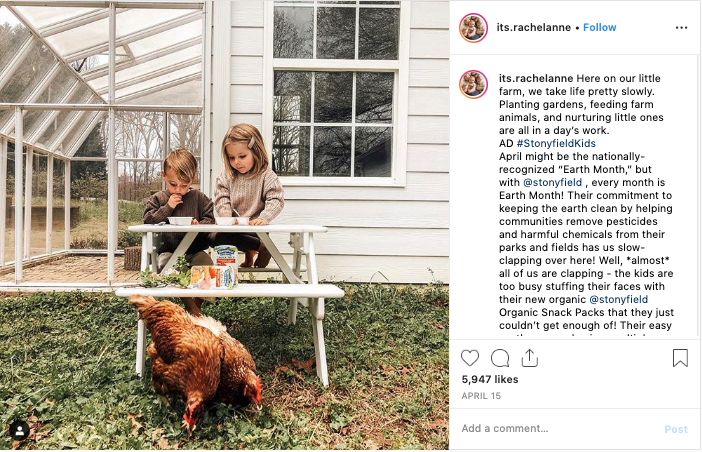 Great example of marketing to parents on Instagram