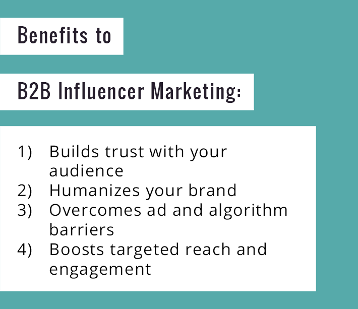 benefits to B2B influencer marketing
