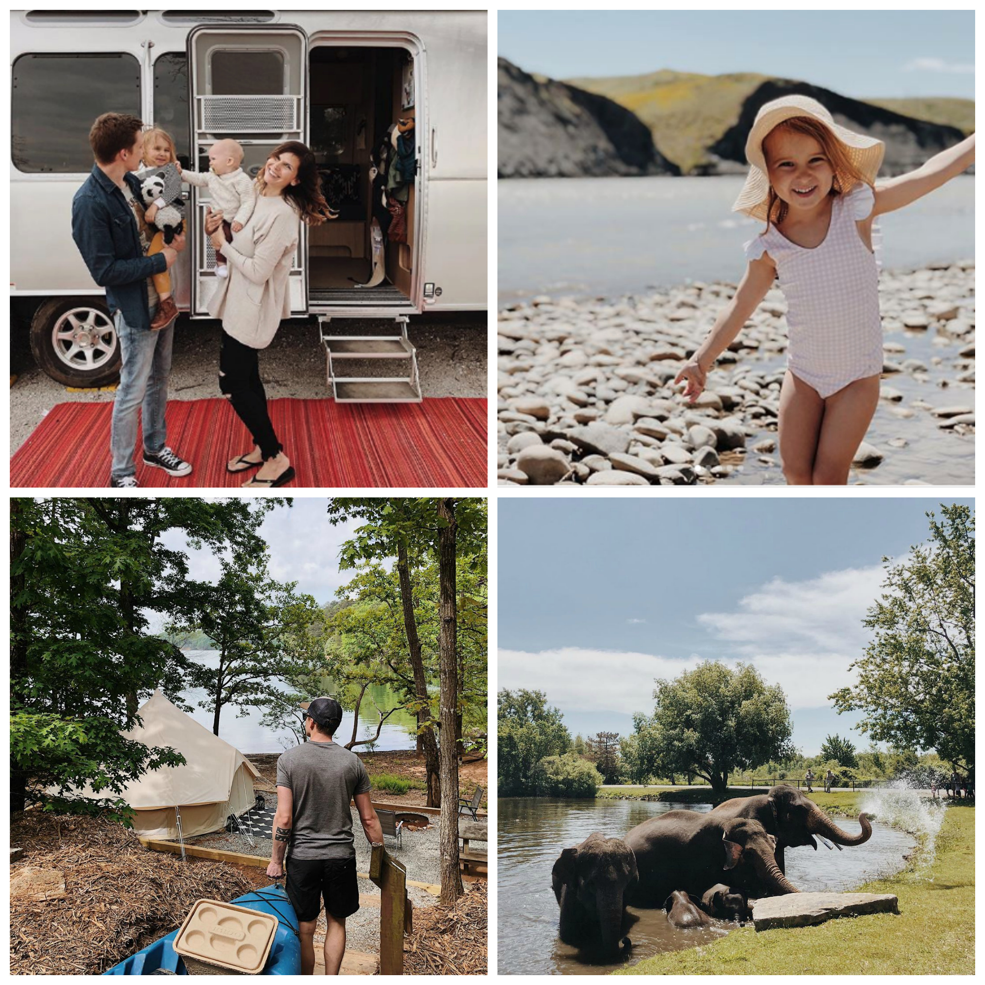travel influencers show family life