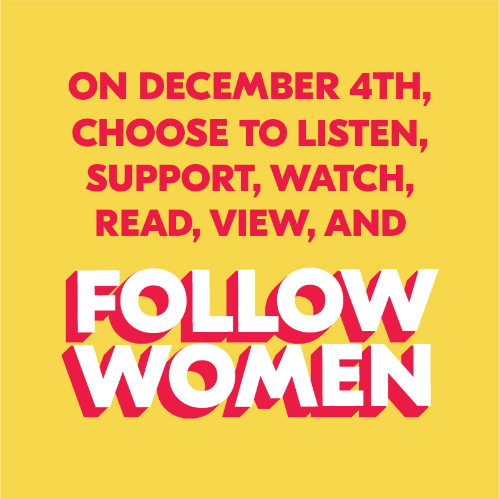 December 4th is #choosewomen Wednesday