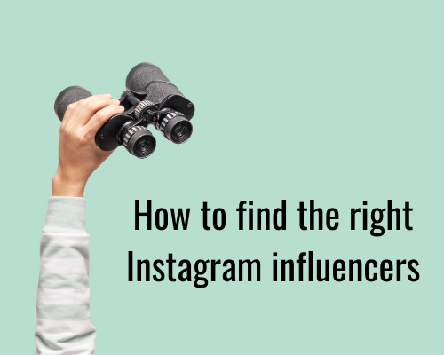 how to find the right instagram influencers