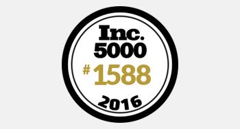 2016 Inc 5000 award