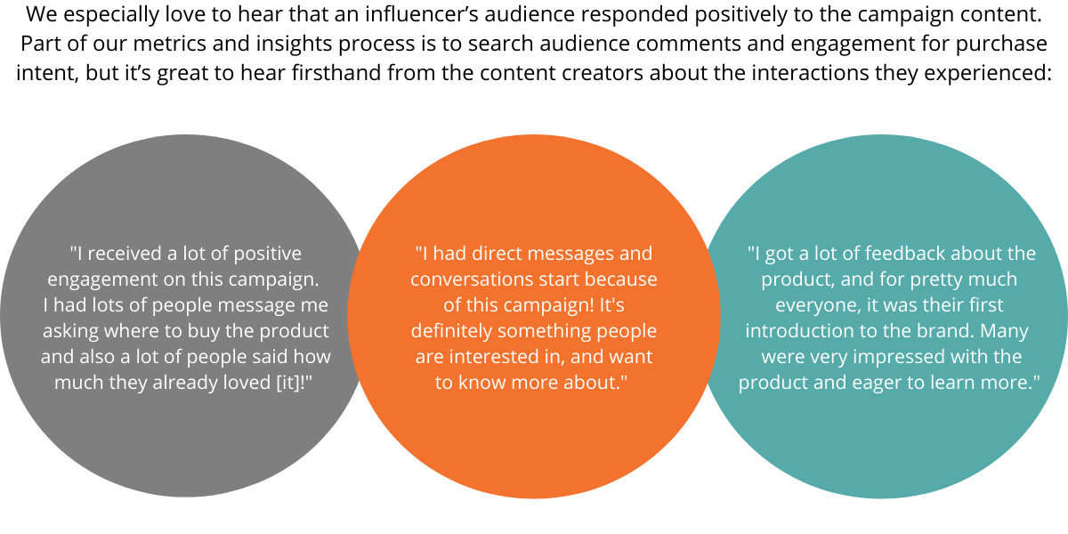 influencer feedback