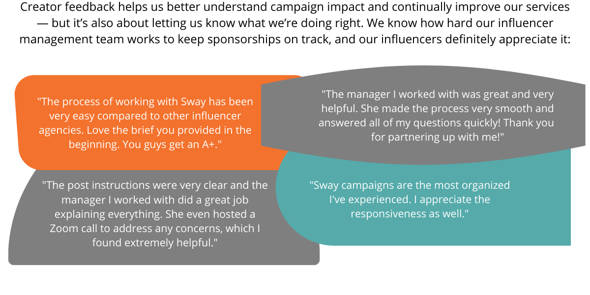 influencer campaigns at Sway Group