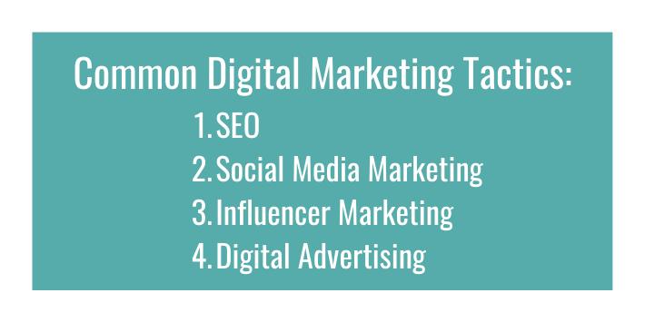 Common Digital Marketing Tactics