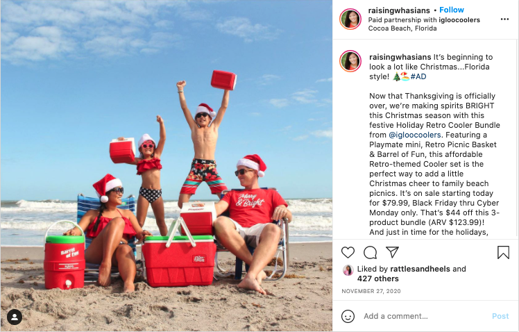 Igloo instagram campaign example